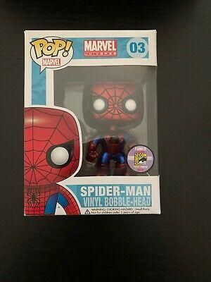 Funko Marvel Pop Metallic Spider Man Bobble Head / LE 480 / Comic Con / #03