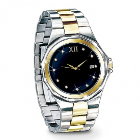 Timeless Love Stainless Steel Men's Watch: Romantic Jewelry Gift For Him
