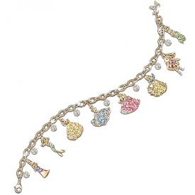 Disney Princess Charm Bracelet With Swarovski Crystals: Collectible Disney Jewelry