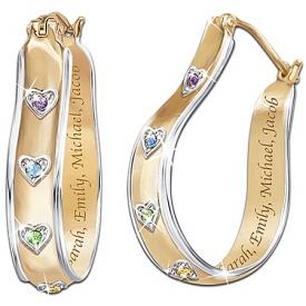 A Mother's Joy Personalized Birthstone Earrings: Keepsake Jewelry Gift For Mom