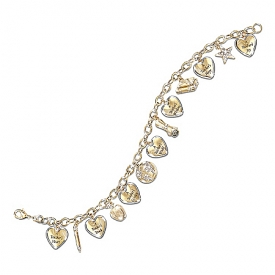 A Teacher's Heart Engraved Charm Bracelet: Thank-You Gift for Educators