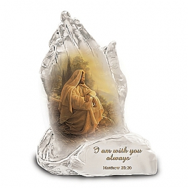 Always With You Praying Hands Religious Art Collectible Figurine