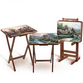 Thomas Kinkade Artistic Wooden Tray Tables