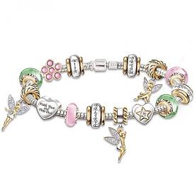 """""""Faith, Trust & Pixie Dust"""" Tinker Bell Charm Bracelet"""