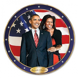 An Historic Change Barack And Michelle Obama Commemorative Collector Plate