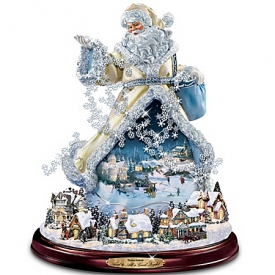 Thomas Kinkade Moving Santa Claus Tabletop Figurine: And To All A Good Night