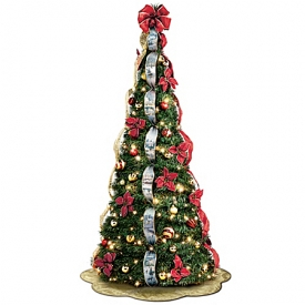 Thomas Kinkade Pre-Lit Pull-Up Christmas Tree: Wondrous Winter