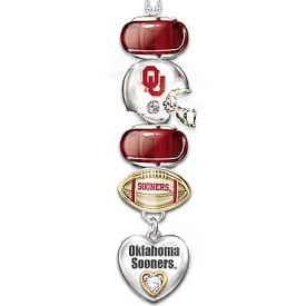 University of Oklahoma Sooners #1 Fan Charm Necklace: Go Sooners!