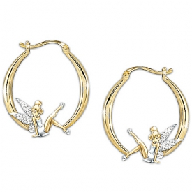 """Believe In The Magic"" Tinker Bell Diamonesk Earrings"