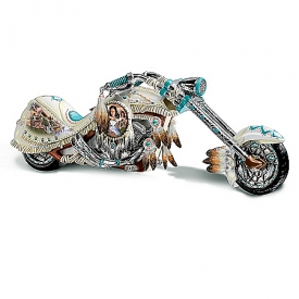 Dream On Down The Highway Native American-Inspired Chopper Figurine