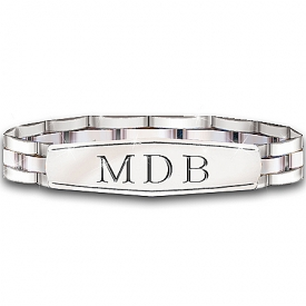 My Son, My Pride, My Joy Personalized Men's Stainless Steel Bracelet