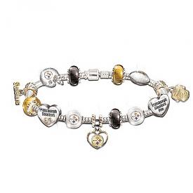 Go Steelers! #1 Fan Charm Bracelet
