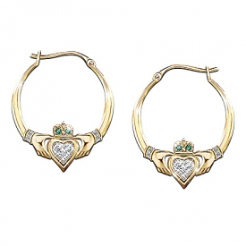 Blessings Of The Emerald Isle Claddagh Earrings