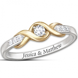 """Infinite Love"" Personalized Solitaire Diamond Ring"