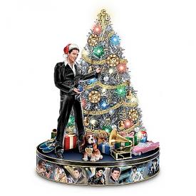 Elvis Rock 'N' Roll Pre-Lit And Musical Tabletop Christmas Tree