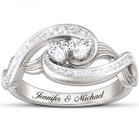 """""""Always Together In Love"""" Topaz Personalized Ring"""