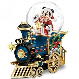 Disney Mickey Mouse Miniature Snowglobe: Santa Mouse Is Comin' To Town