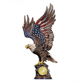 We Will Never Forget: Patriotic Eagle Sculpture Commemorating 9/11/2001