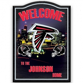 Atlanta Falcons Personalized Welcome Sign