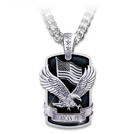 Dog Tag Pendant Necklace: American Pride