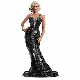 Platinum Perfection From Marilyn Little Black Dress Sculpture