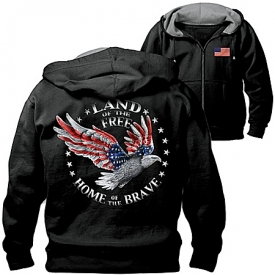 Men's Hoodie: Home Of The Brave