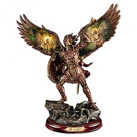 Gabriel: Heavenly Messenger Cold-Cast Bronze Sculpture