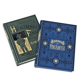 First Edition Replicas: The Adventures Of Tom Sawyer And The Adventures Of Huckleberry Finn Book Set By Mark Twain