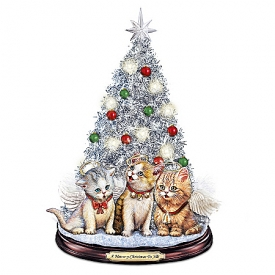 Tabletop Christmas Tree: A Meow-y Christmas To All Tabletop Christmas Tree