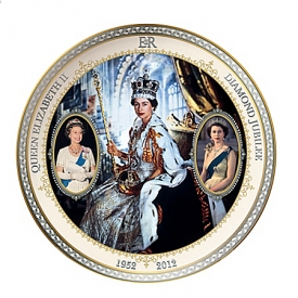 Collector Plate: Queen Elizabeth II Diamond Jubilee