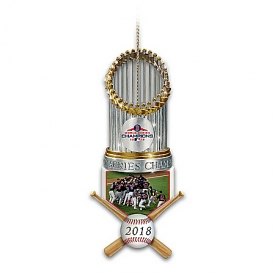 2018 MLB World Series Champions Boston Red Sox Trophy Ornament