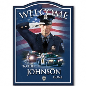 A Hero's Welcome Personalized Welcome Sign