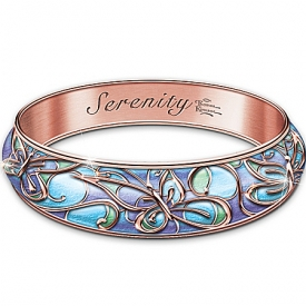 Bracelet: Thomas Kinkade Serenity Copper Wellness Bracelet