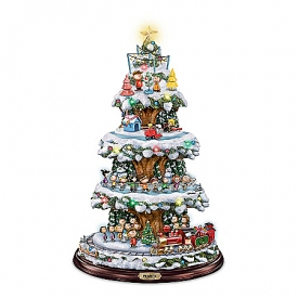 A PEANUTS Christmas Rotating Tabletop Tree With Lights, Music And Motion