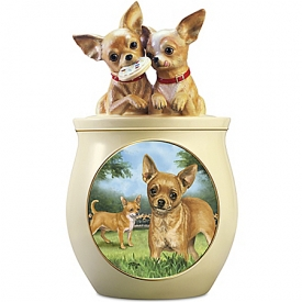Cookie Capers: The Chihuahua Cookie Jar Featuring Linda Picken's Dog Art