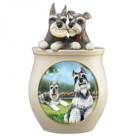 Cookie Capers: The Schnauzer Handcrafted Cookie Jar