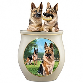 Cookie Capers: The German Shepherd Handcrafted Cookie Jar