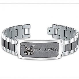 Bracelet: Army Personalized Stainless Steel Men's Bracelet