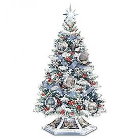 Thomas Kinkade Reflections Of The Season Christmas Tabletop Tree