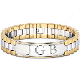 Bracelet: Always, My Grandson Personalized Men's Bracelet