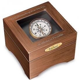 Keepsake Box: Grandson, Forge Your Path Personalized Shadowbox Keepsake Box