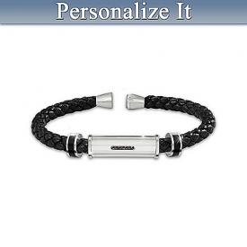 Bracelet: Personal Statement Personalized Men's Braided Bracelet