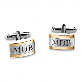 Esquire Personalized Stainless Steel Cuff Links