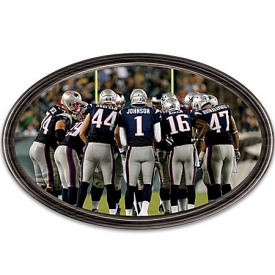 Wall Decor: Going The Distance New England Patriots Personalized Stadium Edition Wall Decor