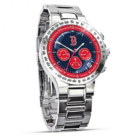 Boston Red Sox Collector's Stainless Steel Men's Watch