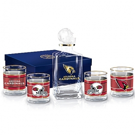 Arizona Cardinals NFL Glass Decanter Set