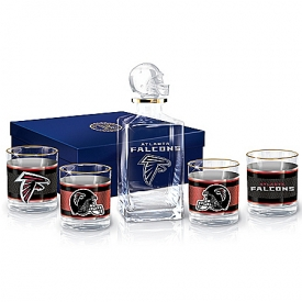 Atlanta Falcons NFL Glass Decanter Set