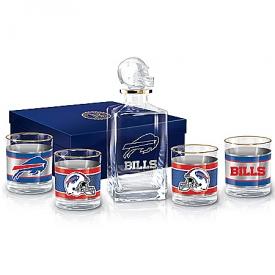 Buffalo Bills NFL Glass Decanter Set