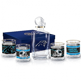 Carolina Panthers NFL Glass Decanter Set