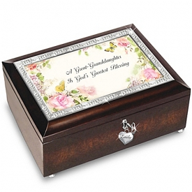 A Great-Granddaughter Is God's Greatest Blessing Personalized Music Box